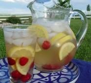 Raspberry lemonade white wine sangria