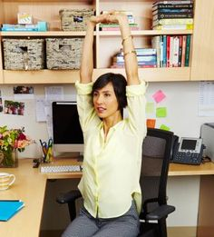 See how you can get fit in your cubicle! These exercises are great for the busy work life. When you're sitting at your desk try doing these exercises to build muscle and tone your body.