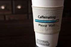 Clever reusable cup cozies for your tasty hot bevvies. Available from sewtara. (via holy cool)