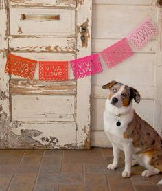romantic papel picado bunting in red and pink