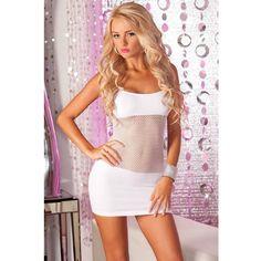 Белоснежное бесшовное платье - сетка #интиммагазин #сексшоп ExtazShop #сексуально #красота #эротично #платье #женское