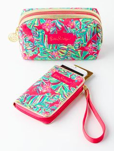 Lilly Pulitzer smartphone wristlet and cosmetic case  http://rstyle.me/n/uw7y2pdpe
