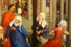 Rogier van der Weyden - Seven Sacraments Altarpiece. Detail. 1445 - 1450