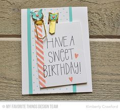 Birthday Wishes & Balloons, Split Diagonal Background, Swiss Dots Background, Hip Clips Die-namics - Kimberly Crawford  #mftstamps