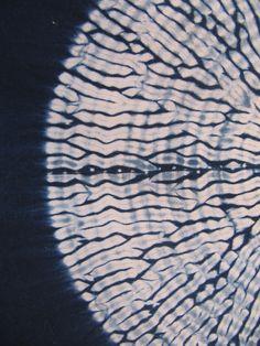 Karamatsu Shibori Detail, natural indigo on cotton sateen.  Amelia Poole, Ecouture Textile Studio.