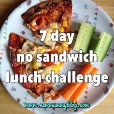 7 day no sandwich challenge for mummy and toddler lunches New Mummy Blog