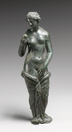 Bronze statuette of Aphrodite with silver eyes.  Hellenistic 3rd–1st century B.C. Greek. | © 2000–2014 The Metropolitan Museum of Art.
