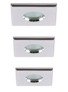 Lynx square recessed ceiling light 3 pack