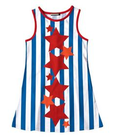 11f4c17aed8a4 Love this Blue   Red Stripe Star Sleeveless Dress - Toddler   Girls on