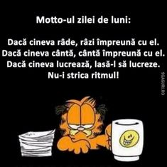 Deci azi e luni ! Funny Jockes, Funny Quotes, Funny Memes, Hilarious, Jokes, Funny Stuff, Funny Bunnies, Funny Gifts, Sarcasm