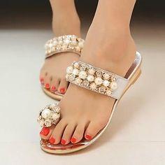 Shimandi ® Leatherette Women's Flat Heels Sandals Shoes(More Colors) – USD $ 19.99