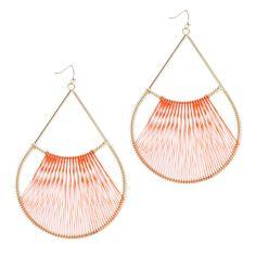gold + wire teardrop earrings