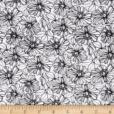 Michael Miller Graphyx Camillia Black Fabric
