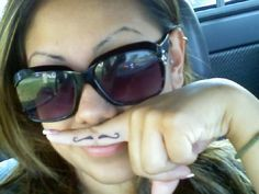 my mustache tattoo :) thinking of getting one
