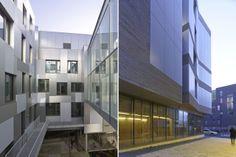 Bruno Gaudin, Archipel Habitat Head Office and District Civic Centre , ZAC Clémenceau, Rennes, France, photo by Stéphane Chalmeau #architecture #mixed-use #public