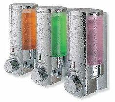 AVIVA Three Chamber Soap Shampoo Shower Liquid Dispenser Basket Kitchen Laundry