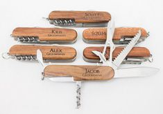 Pocket Knife, Personalized Pocket Knife, Ring Bearer Gift, Groomsmen Gift, Wedding Gift, Wedding Party Gift, Favor Party Gift, Custom Engraved Knife.  -THE MAGIC WOOD SHOP- Thank you for stopping by the Magic Wood Shop, specializing in custom laser engraving. We are a family operated