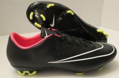 san francisco e8597 2fded Nike Mercurial VELOCE II FG Soccer Cleats 651618 016 Black Men s Sz 8 for sale  online   eBay
