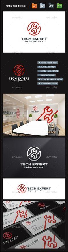 Tech Expert Service Repair - Logo Design Template Vector #logotype Download it here: http://graphicriver.net/item/tech-expert-service-repair-logo-template/10870370?s_rank=1280?ref=nexion