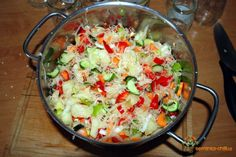 Sterilovaný zeleninový salát s chilli papričkami Chilli Recipes, Potato Salad, Potatoes, Rice, Ethnic Recipes, Food, Eten, Potato, Meals