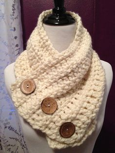 The Buttoned Monterey Harbor Scarf  Handmade by TheWhiteBirchTree, $45.00