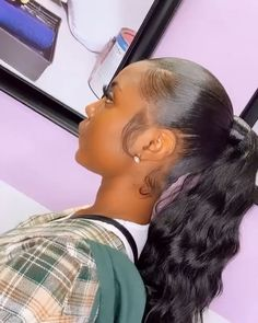Thriving Hair Brazilian Virgin Human Hair Straight/Curly/Body Wave/Natural Wave Velcro Strap Wrap Around Ponytail For Women Clip-In Ponytail 60g-160g (P1) Hair Ponytail Styles, Black Ponytail Hairstyles, Clip In Ponytail, Sleek Ponytail, Baddie Hairstyles, Cute Hairstyles, High Weave Ponytail, Invisible Ponytail, Natural Hair Ponytail