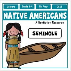 Native Americans : The Seminoles : Your students will love this Native American and Seminoles Activity Pack!The Seminoles lived in the Southeast Coastal region in the state of Florida. The Seminole people used everything in their environment to help them survive the extreme heat and steamy climate of the Southeast.