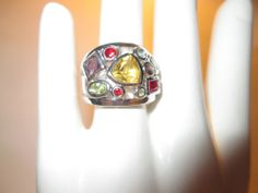 LIA SOPHIA PANORAMA RING, COLORFUL, SIZE 7, GORGEOUS RING, MUST SEE!