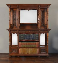 ~ Gillow & Co Walnut Sideboard / Open Bookcase ~ antiques-atlas.com