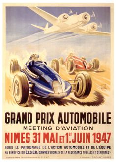 Grand Prix Automobile Meeting Giclee Print by Geo Ham at AllPosters.com