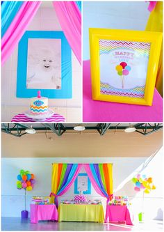 happy 1st birthday Lexi!   a rainbow first birthday party   Moncrief Photography