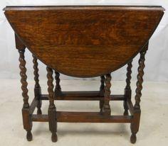 oak barley twist gate leg table