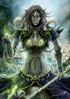 Dark Elf by *ArisT0te on deviantART