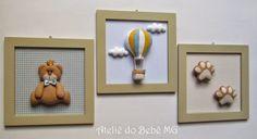 Ateliê do Bebê MG: Trio de quadros