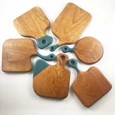 Color Blocked: A New Line of Gray Dog Woodworks Cutting Boards and Kitchen Accessories