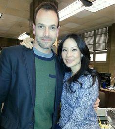 #Elementary snapshot -- Jonny Lee Miller and Lucy Liu