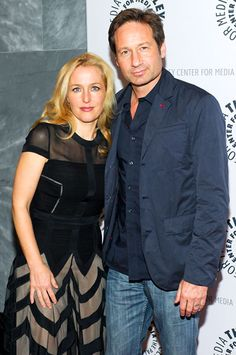 Mulder 'n Scully Again! Gillian Anderson and David Duchovny were reunited once more at the Paley Center for Media in NYC for an X-Files talk...