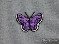 Girls applicatie 25mm vlinder paars
