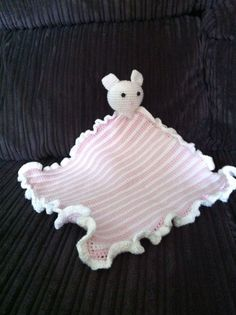 """Pink and white mousey comforter for a mum to be and her """"bubbles""""!!"""