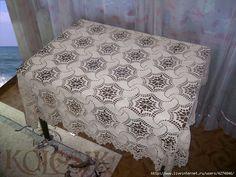 Meravigliosa tovaglia all'uncinetto Crochet Bedspread, Bed Spreads, Doilies, Mattress, Quilts, Blanket, Rugs, Handmade, Furniture