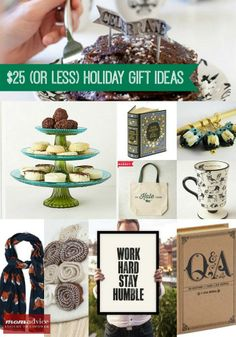 Christmas Gift Ideas Under $25 from MomAdvice.com. Great gift ideas at http://KindleLaptopsetc.com