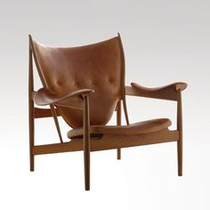 Chiefain Chair by Finn Juhl, 1949.  Made by Niels Vodder. Teak and leather.