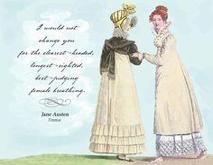 DECOR: Jane Austen quotes. I Would Not Change You - Jane Austen Note Cards (set of 4). $8.50, via Etsy.