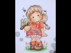 Tilda with Ugg Shoes Copic Coloring Card Kit - YouTube