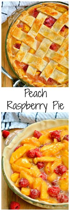 Savor something sweet with this Peach Raspberry Pie! Tart raspberries and sweet peaches make it the perfect summer treat! Savor something sweet with this Peach Raspberry Pie! Tart raspberries and sweet peaches make it the perfect summer treat! Tart Recipes, Baking Recipes, Sweet Recipes, Dishes Recipes, Pie Dessert, Dessert Recipes, Dessert Ideas, Summer Pie, Summer Cakes