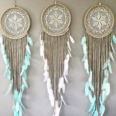 "Rg lucky us it's coming soon xx"" Doily Dream Catchers, Beautiful Dream Catchers, Dream Catcher Craft, Dream Catcher Tutorial, Crochet Dreamcatcher, Diy And Crafts, Arts And Crafts, String Art, Wind Chimes"
