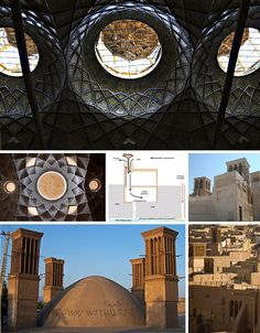 ANCIENT: -persian-windcatchers, one of the most complex passive ventilation and cooling systems that ever existed