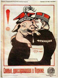 #sovietpropaganda Anti-Polish soviet propaganda poster