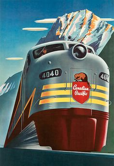Canadian Pacific 4040 Beaver 1952 Rockies - www.MadMenArt.com features over 400…
