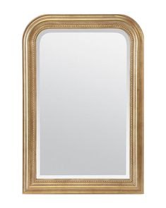 With an impossible-to-miss gold leaf finish, our Vienna Mirror makes a statement wherever it's placed. Elegant beveled edges and a simple pearl detail finish off the design lending a delicate feel to its ornate form. Mirror Video, French Mirror, White Vanity, Pop Up Shops, Gold Leaf, Vienna, Home Remodeling, It Is Finished, Inspiration